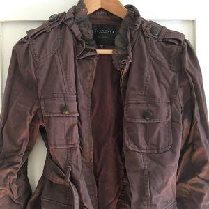 Sanctuary romantic hip length army style jacket